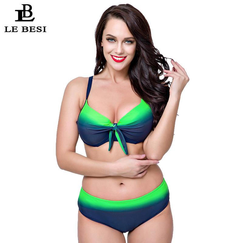 Plus Size Bikini Set For Women Sexy Large CDEF Cup Swimsuit Underwire Push Up Swimwear Biquini-SWIMWEAR-SheSimplyShops