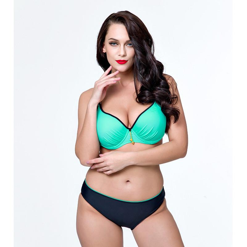 Plus size swimwear female Sexy bikinis women two pieces bathing suit female swimsuit female large size tankini set-Tanks-SheSimplyShops