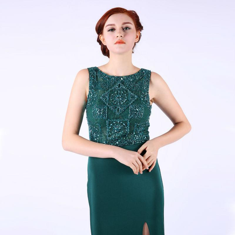 Lace Beading Mermaid Party Dress long Evening Dress New Arrival Straight Formal Dresses-Dress-SheSimplyShops