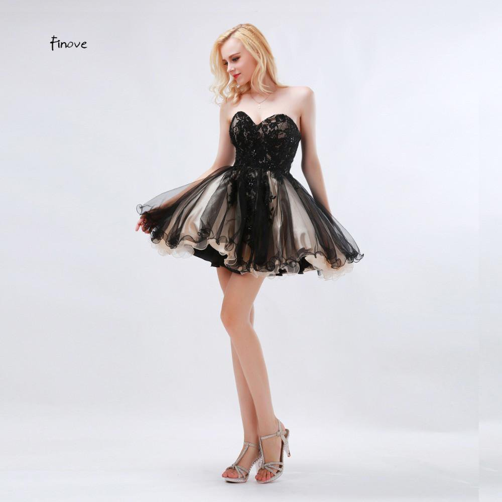 High Quality Cocktail Dresses Black Sweetheart Neck Sexy Mini Dresses Backless Gown Sleeveless Fashion-Dress-SheSimplyShops