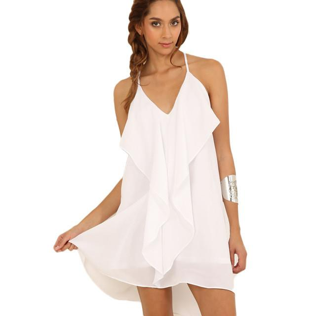 Summer Dress Women Dresses Plus Size Causal Female Clothes Sexy Criss-cross Strap Tank Top Beach Dresses-Dress-SheSimplyShops