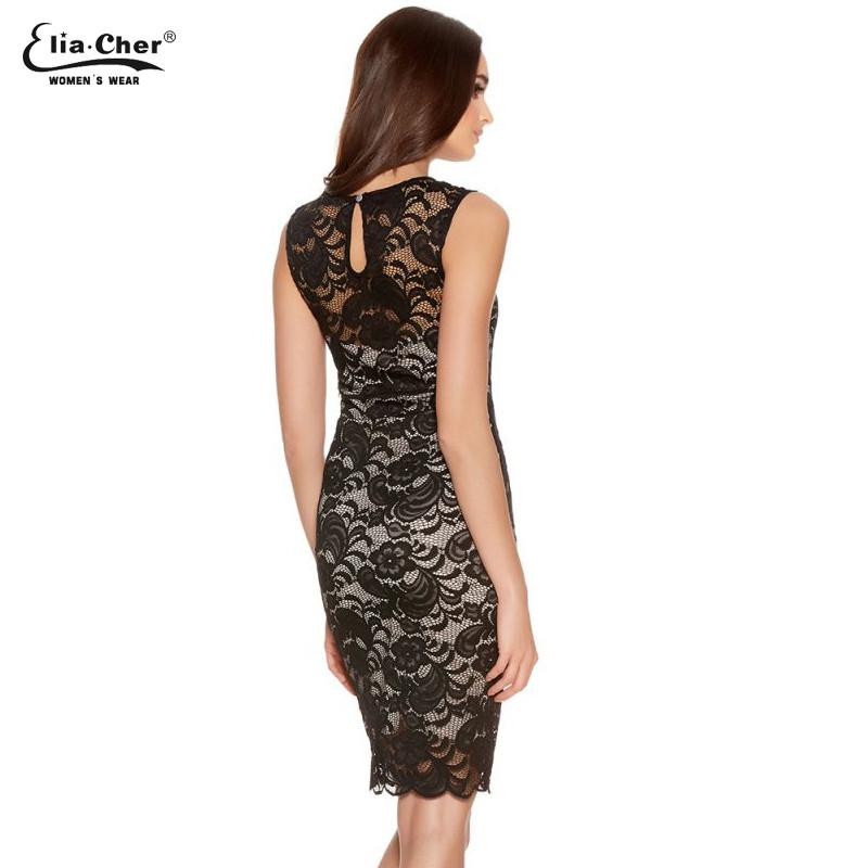 Sexy Floral Lace Dress Women New Spring Summer Plus Size Black Knee-Length Midi Dress Party Bodycon Dress-Dress-SheSimplyShops
