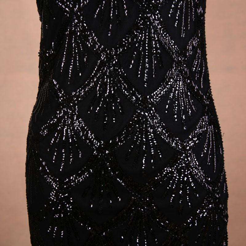 New High Quality Sequined Tassels Rhinestones Pretty Women Dress for Club-Dress-SheSimplyShops