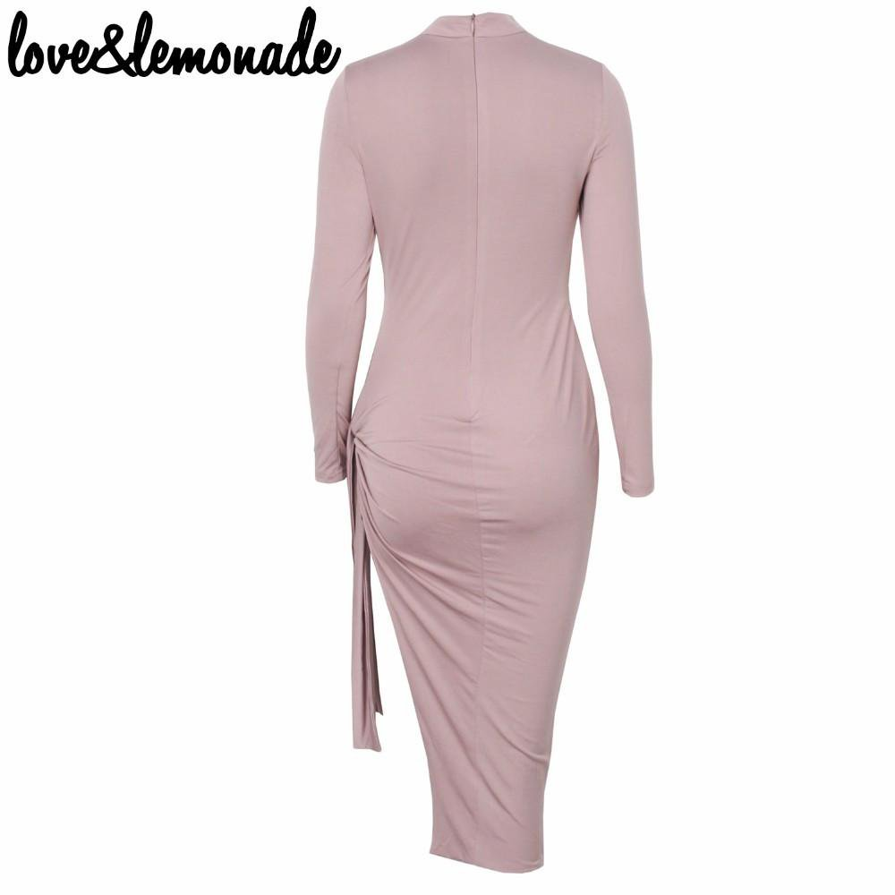 High-Necked Cut Out Dress Lotus color-Dress-SheSimplyShops