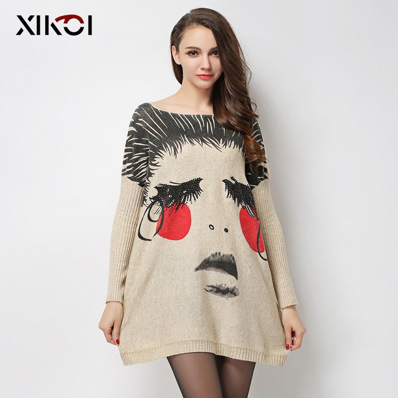 New Autumn Long Women Sweater Clothing Casual Novelty Women's Sweaters Pullovers Fashion Print Ladies Pullover Clothes-SWEATERS + CARDIGANS-SheSimplyShops