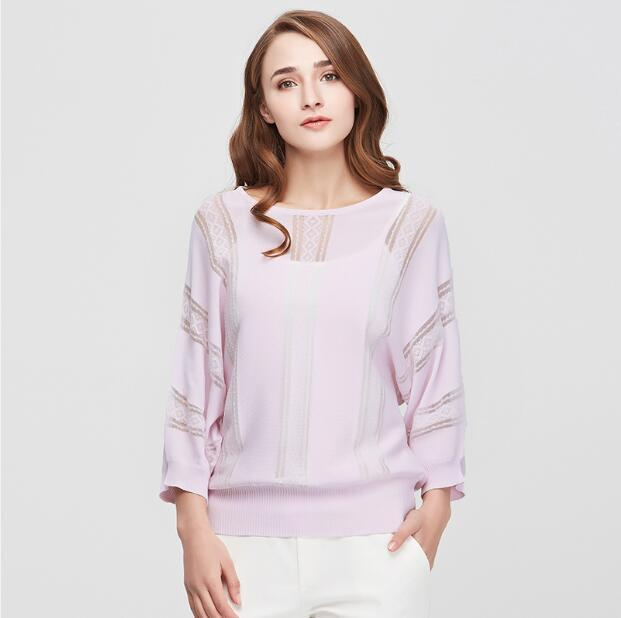 New Casual Women Sweaters Clothes Fashion Batwing Sleeve Pullovers Solid O-Neck Thin Women's Sweater Pullover Clothing-SWEATERS + CARDIGANS-SheSimplyShops
