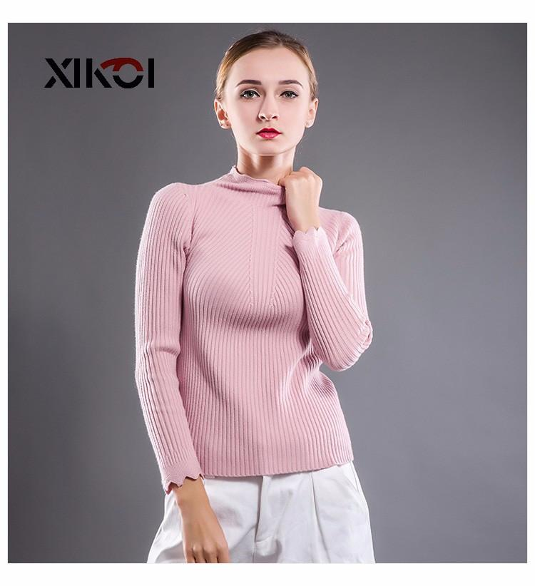 New Casual Winter Women Pullovers Sweater Fashion Solid Ladies Clothes Thick Turtleneck Woman Pullover And Sweater-SWEATERS + CARDIGANS-SheSimplyShops