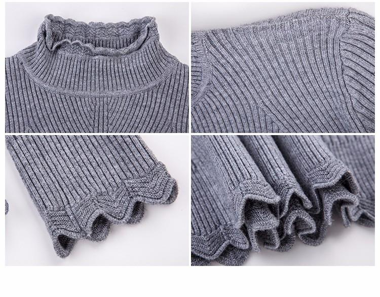 New Casual Winter Clothes Women Pullovers Sweater Fashion Solid Ladies CoatsThick Turtleneck Woman Pullover And Sweaters-Coats & Jackets-SheSimplyShops