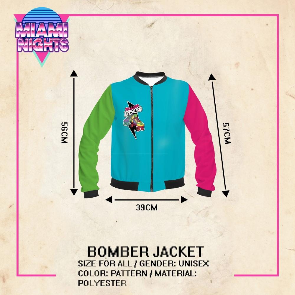 New Spring Women Bomber Jacket Roller Disco Printing Stitching Fashion Sexy Basic Jacket for Woman-Coats & Jackets-SheSimplyShops