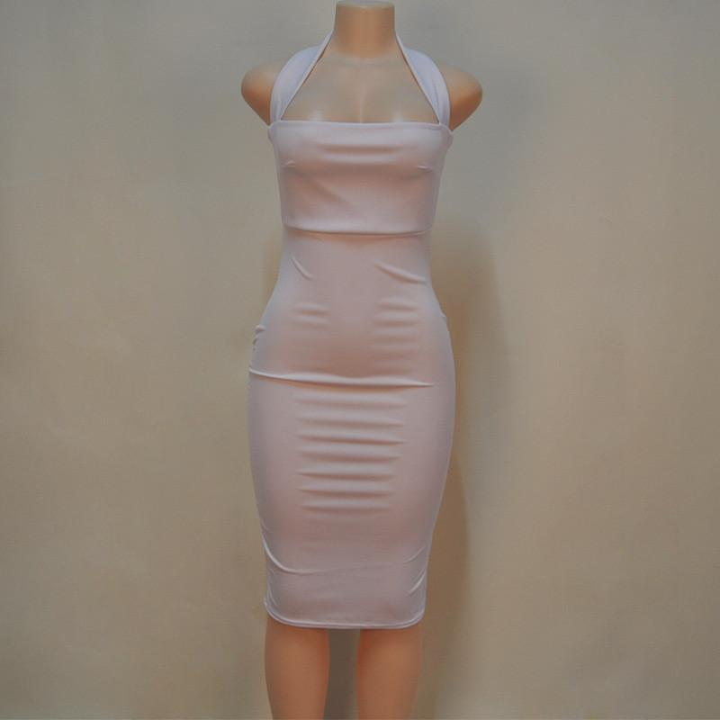 Sexy O-Neck Bodycon Club Dress-Dress-SheSimplyShops