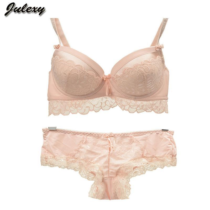 Julexy Brand sexy lace push up bra set for women intimate ABC large size bra brief sets embroidery flounced noble underwear set-INTIMATES-SheSimplyShops