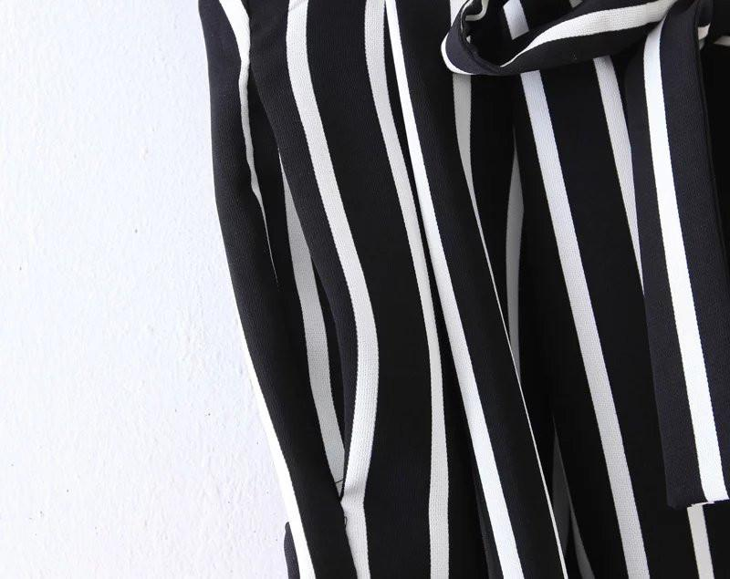 Summer Spring Fashion Striped Trousers for Women High Waist Wide Leg Casual Female Pants-PANTS-SheSimplyShops