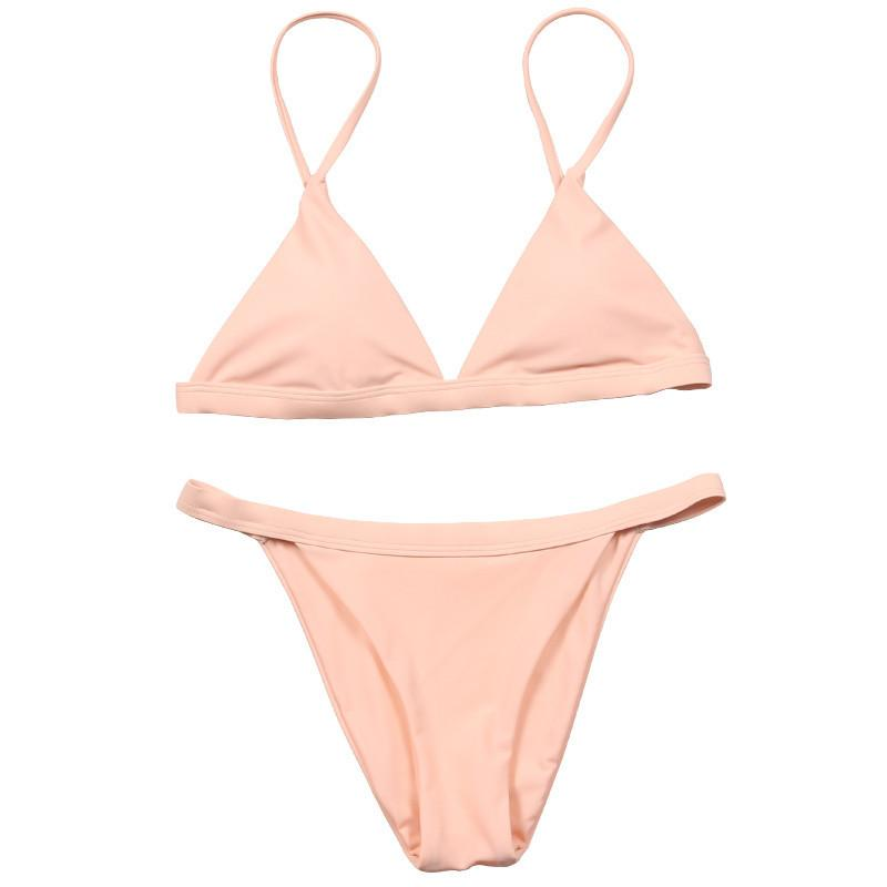 Sexy Bikini Swimwear Women Bikini Set Bandage Swimsuit Soild Beach Wear Swimwear Female Bathing Suits-SWIMWEAR-SheSimplyShops