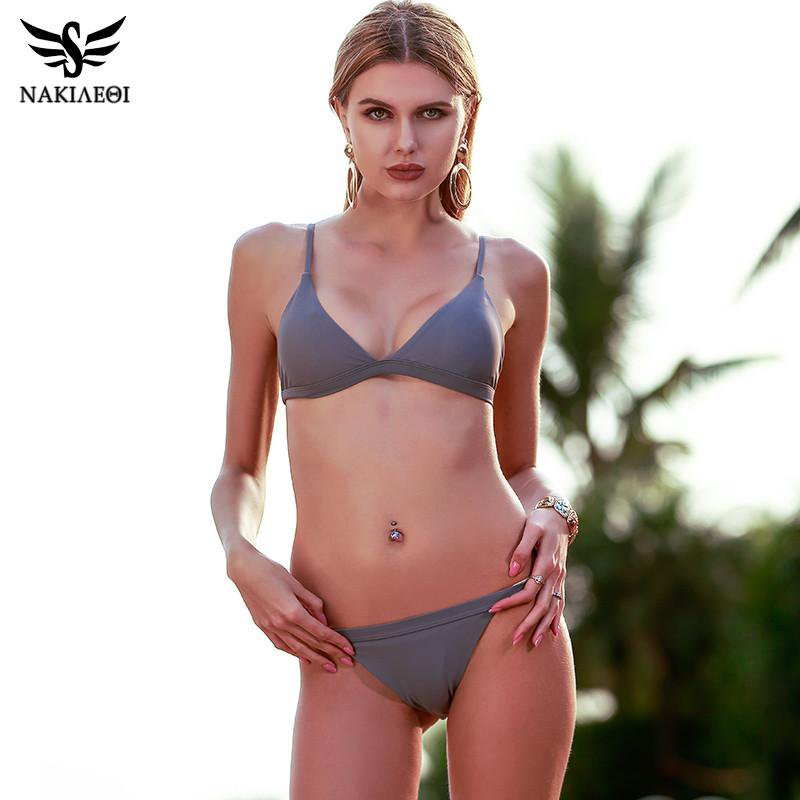 New Sexy Micro Bikinis Women Swimsuit Swimwear Halter Bikini Set Beach Bathing Suits Swim Wear Biquini-Bottoms-SheSimplyShops