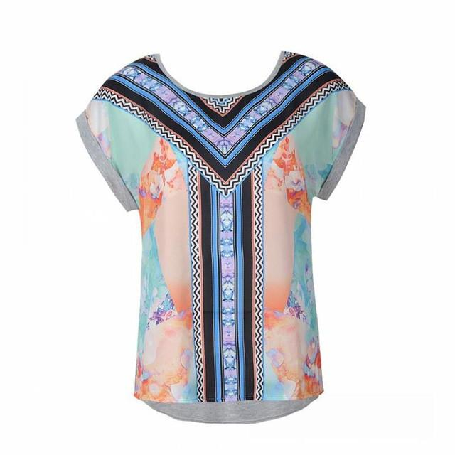 T-shirt Women Tops Fashion Summer Top Print Tee Plus Size Causal Women Clothing-SHIRTS-SheSimplyShops