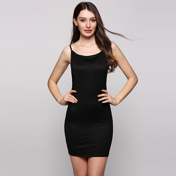 Summer Dress Women Sexy Party Bodycon Dresses Strapped Sleeveless Backless Cross Solid Mini Beach Black-Dress-SheSimplyShops