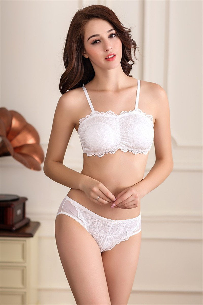 new solid lace sexy bra sets Comfortable breathable women underwear-UNDERWEAR-SheSimplyShops