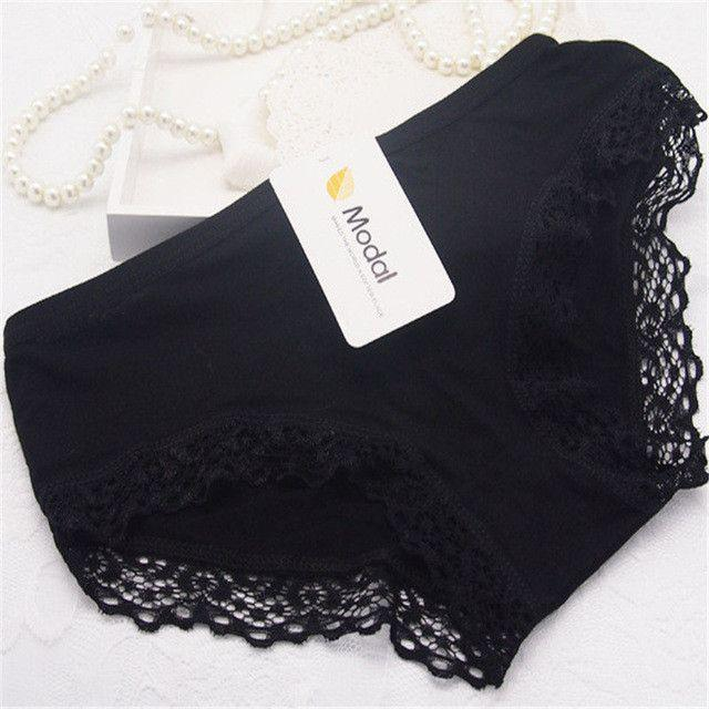Cotton with Lace Side best quality best Comfortable breathable Underwear Women sexy panties female Briefs-PANTS-SheSimplyShops