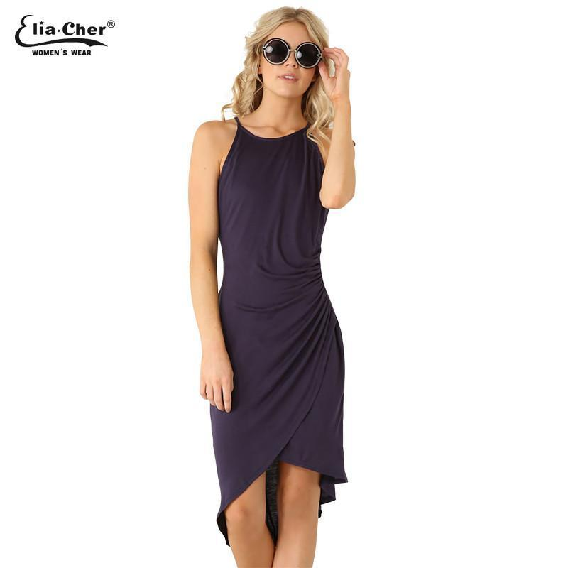 Women Dress New summer dresses casual women Clothing sexy and Solid Tank dresses Plus Size-Dress-SheSimplyShops