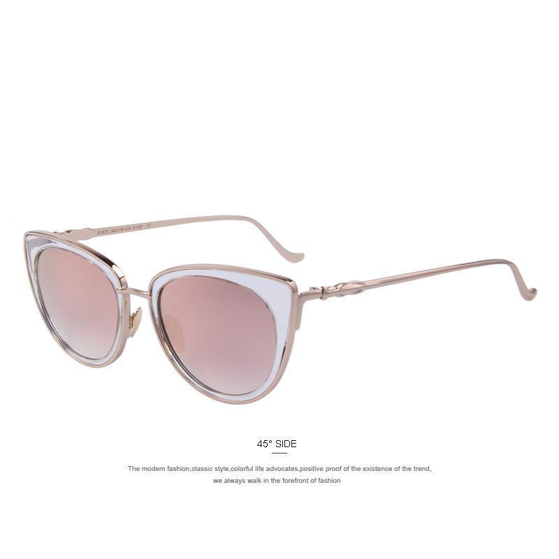 MERRY'S Fashion Women Cat Eye Sunglasses Alloy Frame Brand Designer Sunglasses Classic Shades-BAGS-SheSimplyShops