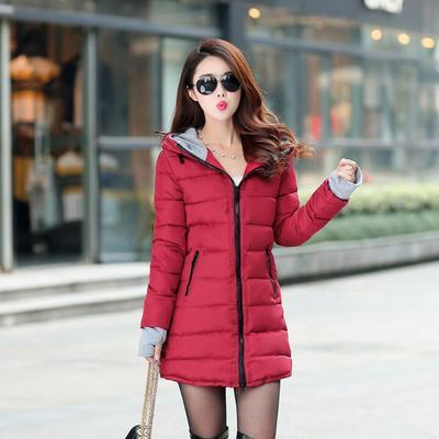 Women's Winter Jacket New Medium-long Down Cotton Female Parkas Winter Coat Women Slim Ladies Jackets And Coats-Coats & Jackets-SheSimplyShops