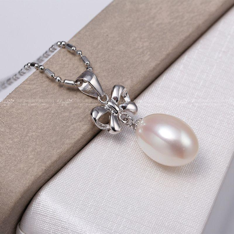 Bow knot Pearl Set Silver-Earrings +Pendant Romantic Jewelry Sets Fine Jewelry Gifts For Women-EARRINGS-SheSimplyShops