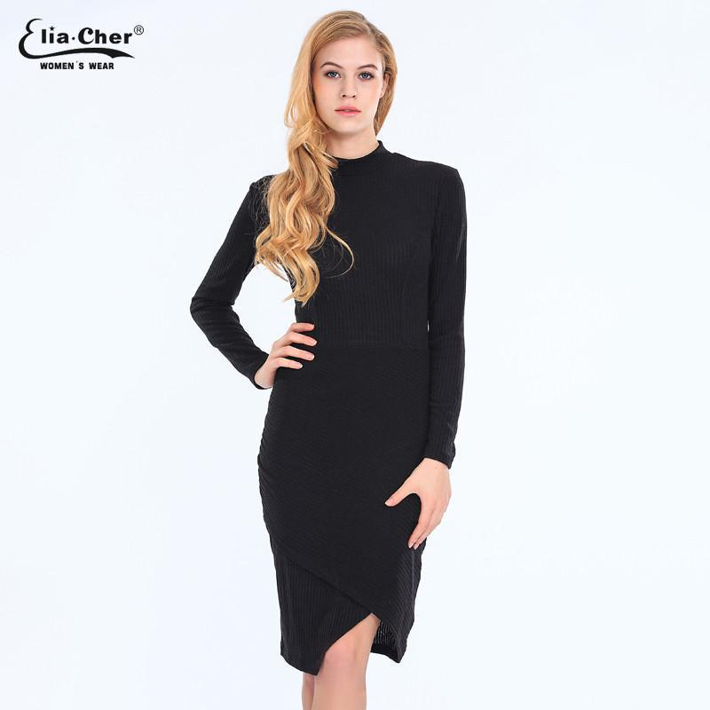 Women Dress Bodycon Winter Dresses Plus Size Women Clothing Sexy Sweater Midi Dresses-Dress-SheSimplyShops