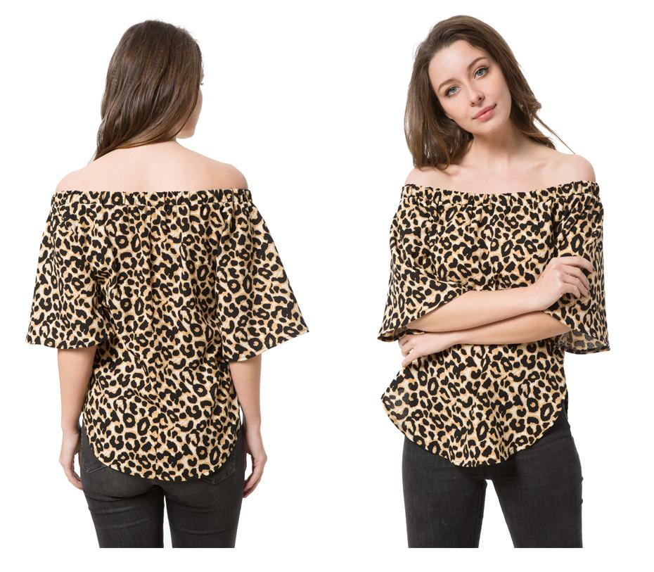 New Blouse Shirt Tops Print Floral Women Plus Size Half Sleeve Casual Lady Leopard Blouses-Blouse-SheSimplyShops