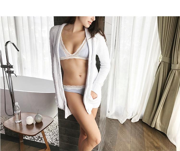Lace comfortable cotton underwear suit without steel rims Seamless twist chest sexy bra set-UNDERWEAR-SheSimplyShops