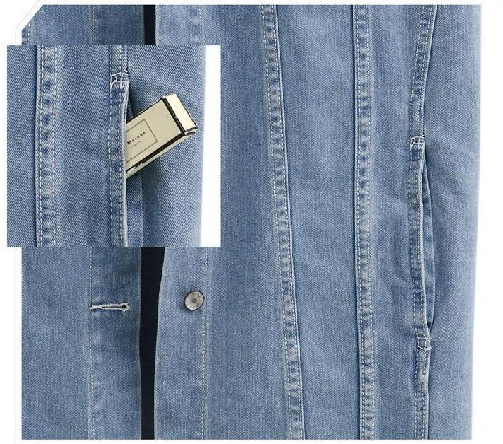 Denim Vests Sleeveless Long Denim Jacket-Coats & Jackets-SheSimplyShops
