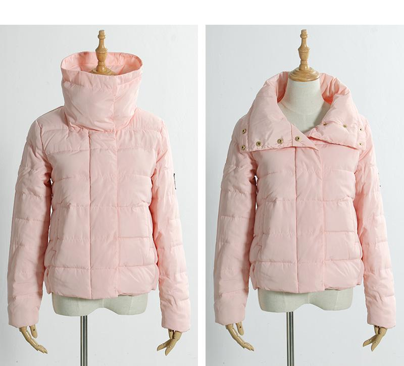 New Arrival High Collar Winter Jacket Women Wadded Spring Fashion Slim Warm Casual Ladies Basic Coat-Coats & Jackets-SheSimplyShops