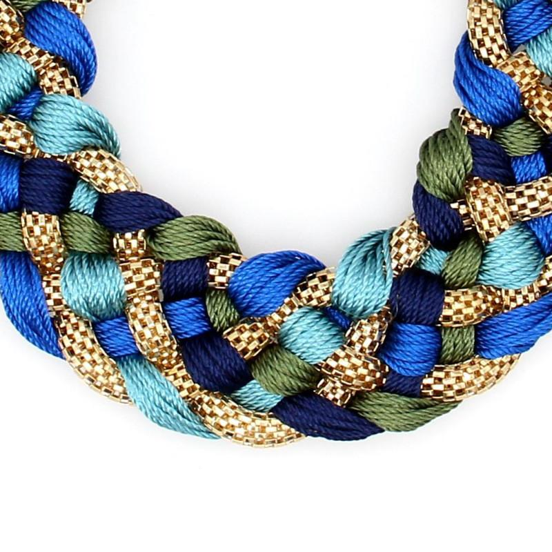 WEAVED HANDMADE NECKLACE POPCORN WIDE COLLAR WOMEN CHOKERS JEWELRY-NECKLACES-SheSimplyShops