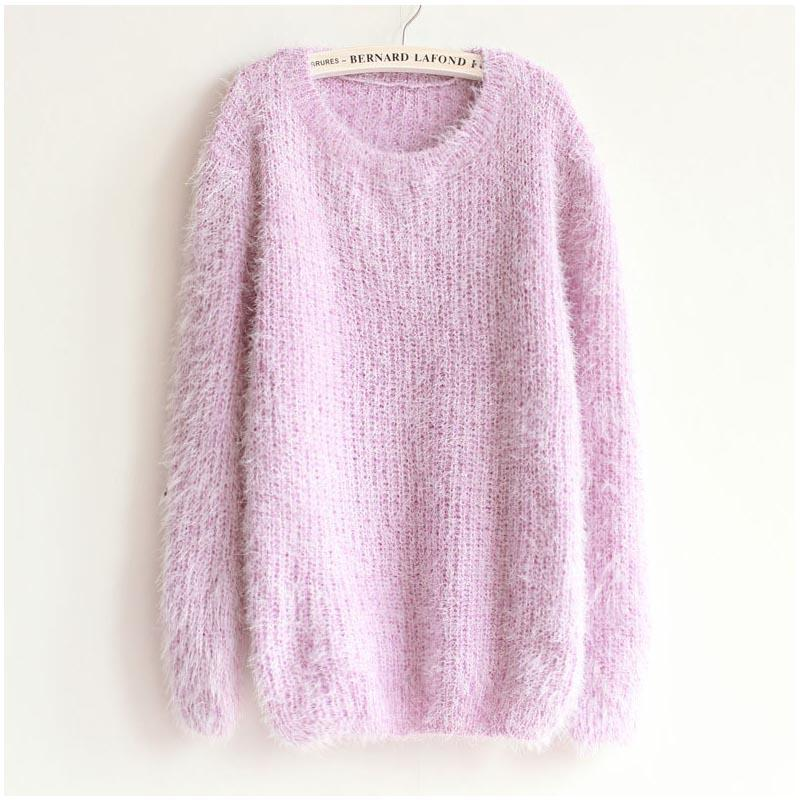 Autumn Winter Women's Round Neck Sweater Women Hedging Loose Pullover Casual Sweater-SWEATERS + CARDIGANS-SheSimplyShops