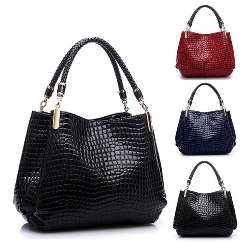 New Fashion Leather bolsas femininas Women Bags Shoulder Bag Female Tote Sac Crocodile Bag messenger bags-BAGS-SheSimplyShops