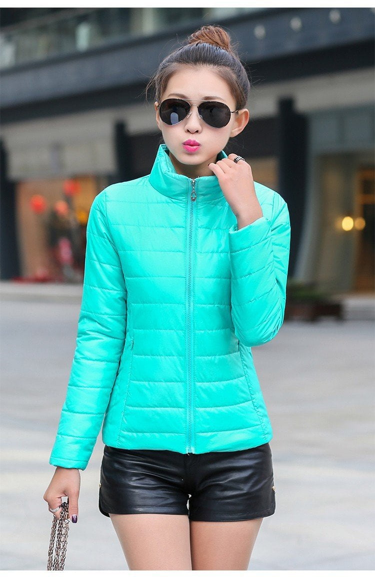 New Women's Jacket To Keep Warm In Winter Padded Silk Ladies Fashion Casual Slim Padded Jacket Colors-Coats & Jackets-SheSimplyShops