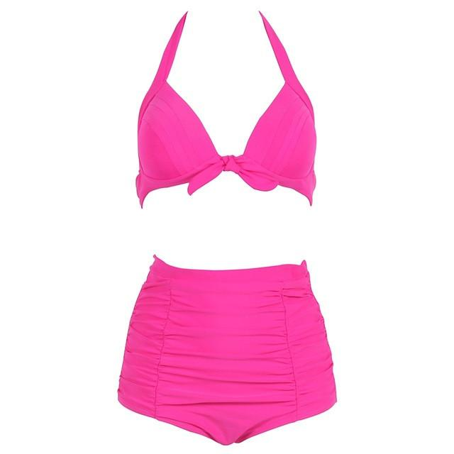 Sexy Bikinis Women Swimsuit Push Up Swimwear Halter Solid Bikini Set Beachwear Bathing Suits Swim Wear-SWIMWEAR-SheSimplyShops