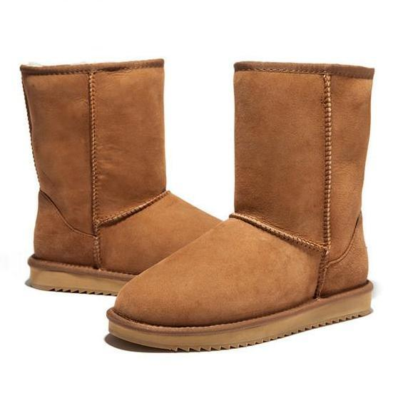 Wool Snow Boots Comfortable Women Winter Boots Winter Shoes Women Boots with Fur Genuine Leather Women Shoes-SLIPS-SheSimplyShops