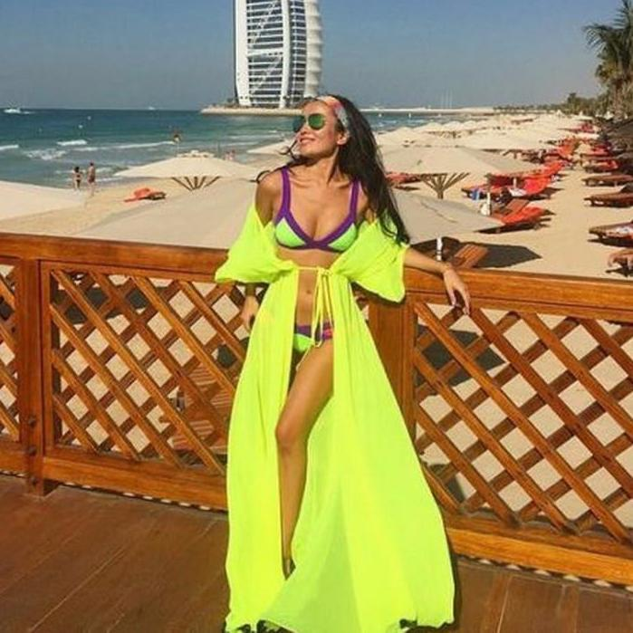Sexy Long Bikini Cover Ups For Women Solid Chiffon Beach Swimsuits Cover Ups Sleeveless Summer Dress New Girls Party Cover Ups-Dress-SheSimplyShops