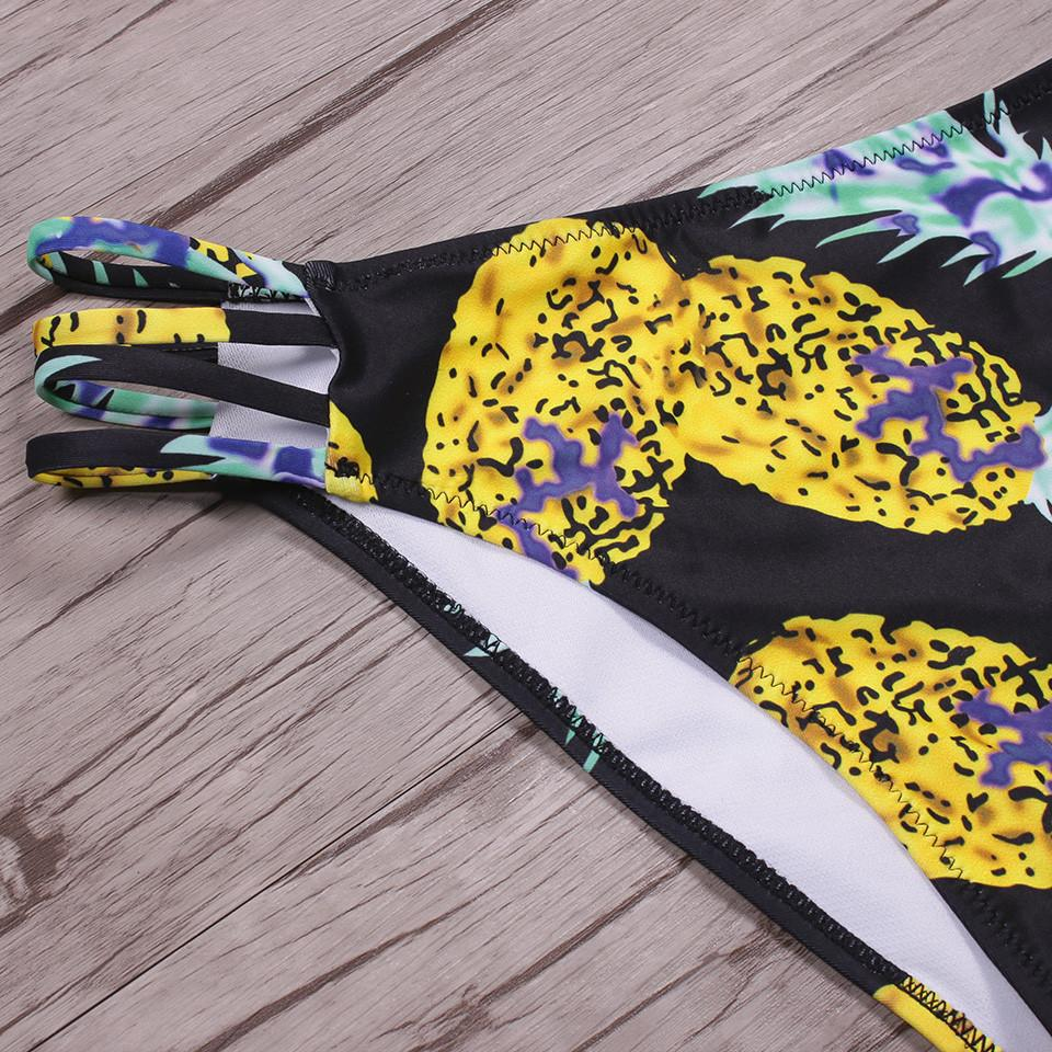 Women New Sexy Print Pineapple Padded Push Up Swimwear Bikini Set-SWIMWEAR-SheSimplyShops