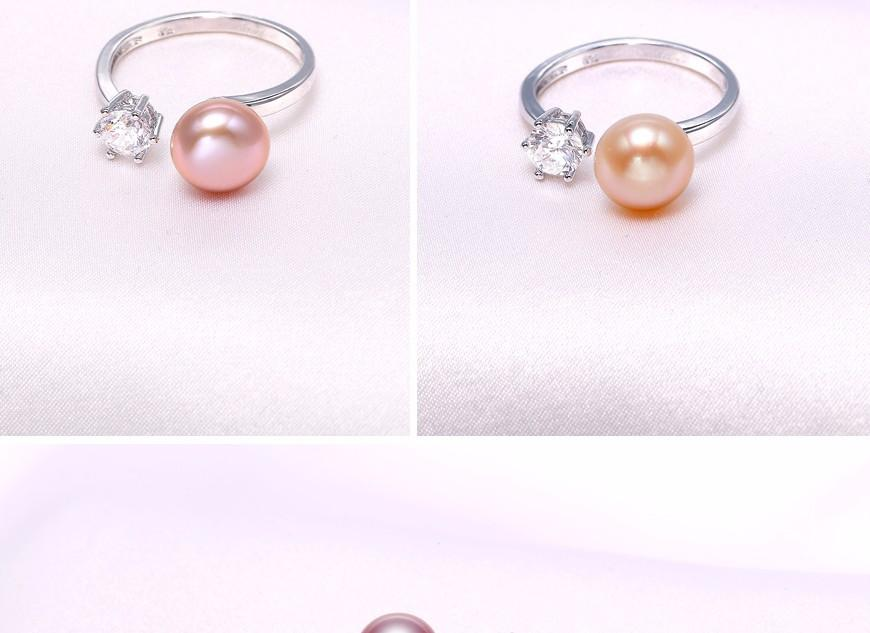 Natural Purple Pink White Black Pearl Earrings Ring Sets, Natural Pearl Sets, Party Jewelry Sets For Woman-EARRINGS-SheSimplyShops