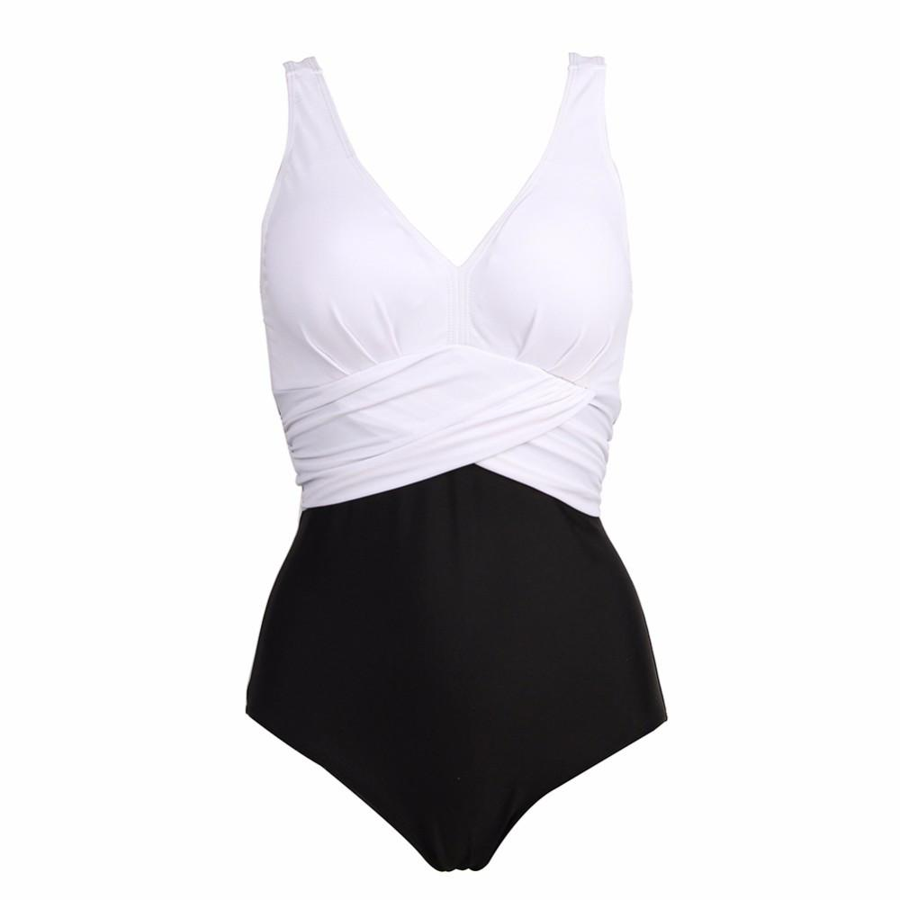Plus Size Swimwear One Piece Swimsuit Women Swim Suit Bodysuit Badpak Beachwear Bathing Suit-SWIMWEAR-SheSimplyShops