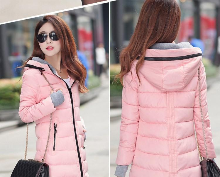Stylish Zipper Parkas Long Coats-Coats & Jackets-SheSimplyShops