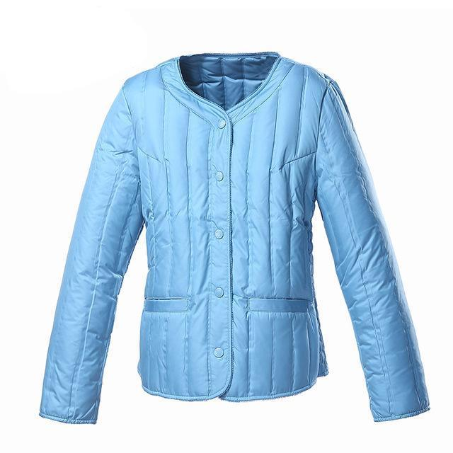 womens clothing down coat winter coat regular jacket ultra light solid spring coat clearance-Coats & Jackets-SheSimplyShops