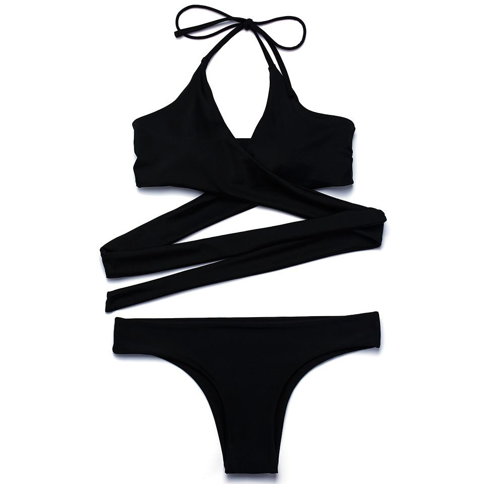 String Cross Bikini Bottom Swimsuit Sexy Halter Swimwear Women Bathing Suit Push Up Bikini Set-Bottoms-SheSimplyShops