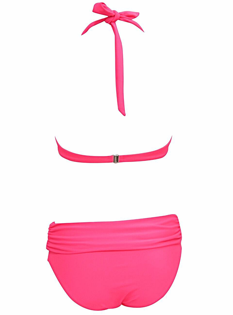 Sexy Bikinis Women Swimsuit Push Up Bikini Set Beach Wear Retro Vintage Bathing Suits Halter Top Swimwear-Tops-SheSimplyShops