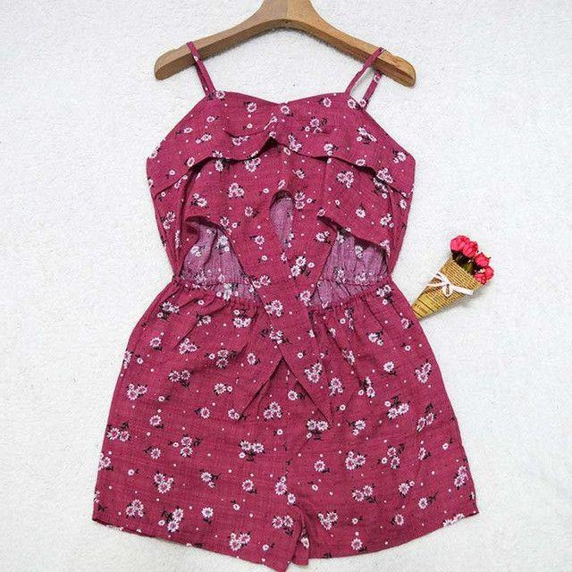 Devil Eyes Playsuit Bow Tie Linen Playsuits Floral Print Belly Tie Jumpsuit New Summer Beachwear Rompers-ROMPERS & JUMPSUITS-SheSimplyShops