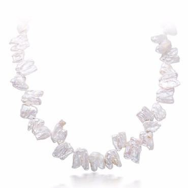 Special Gift Pearl Necklace Natural White Teeth Pearl Choker Necklace-NECKLACES-SheSimplyShops