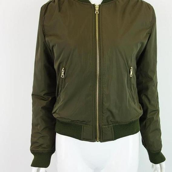 Apparel Winter parkas cool basic bomber jacket Women Army Green down jacket coat Padded zipper chaquetas biker outwear-Coats & Jackets-SheSimplyShops