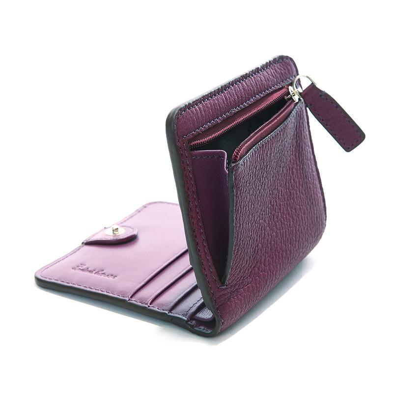 Women Short Wallets Genuine Leather Wallet Mini Luxury Zipper Coin Purse Travel Wallet-BAGS-SheSimplyShops