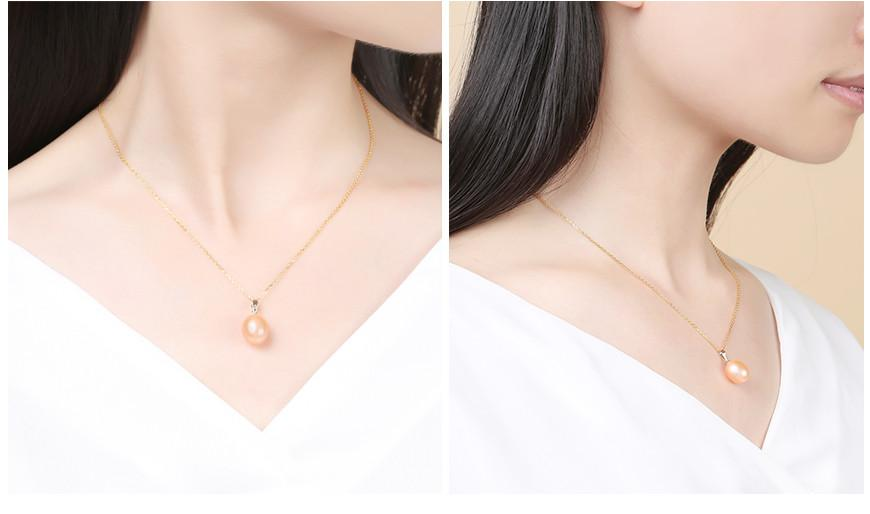 Gold Pearl Pendant High Quality Freshwater Pearl Pendant Necklace Jewelry-NECKLACES-SheSimplyShops